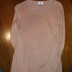 Rose gold metallic sweater
